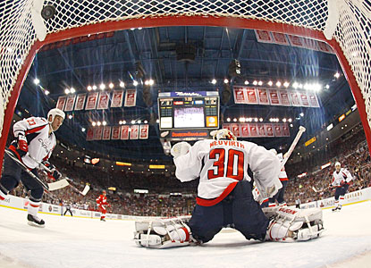 Henrik Zetterberg (not pictured) does his part of the damage against Washington with two goals. (Getty Images)
