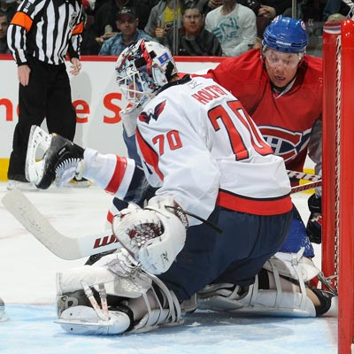 Braden Holtby grabs his second shutout of the season while saving all 18 shots against the Canadiens.  (Getty Images)