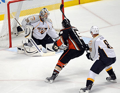 Anaheim's Bobby Ryan scores at least two goals in a game for the eighth time this season. (US Presswire)