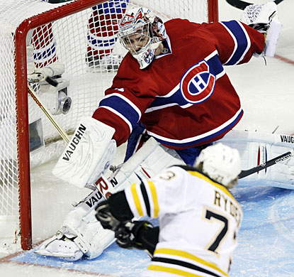 Michael Ryder catches goalie Carey Price a little out of position and takes full advantage of the open net available. (AP)