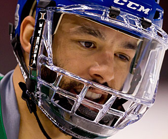 Manny Malhotra has initially been ruled out for the rest of the season since his left eye injury. (AP)