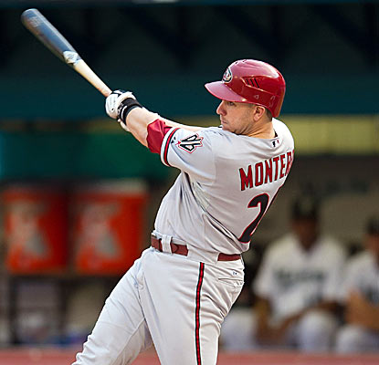 Miguel Montero powers the Diamondbacks with three doubles and four RBI against the sinking Marlins.  (US Presswire)