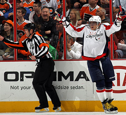 After scoring just one goal in the first five games this season, Ovechkin picks up the tempo with two goals in this game. (Getty Images)
