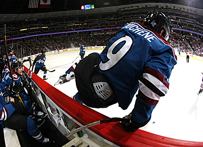 Matt Duchene jumps into action against the Kings.  His third-period goal proves the difference. (Getty Images)