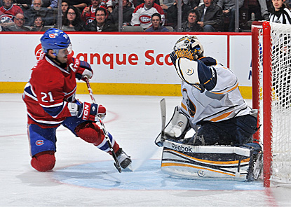 Jhonas Enroth, playing for the injured Ryan Miller,  turns away 25 shots and improves to 6-0 this season. (Getty Images)
