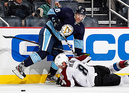 James Neal scores a goal and adds two assists as his Pens score five unanswered to rally and beat the Avs at home. (Getty Images)