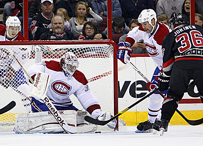 Carey Price sends back 31 shots, including all three in the shootout to help the Habs beat the Hurricanes twice this month. (Getty Images)