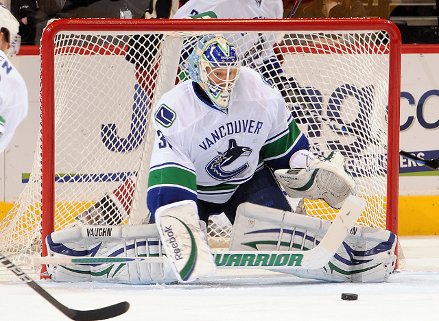 Backup goalie Cory Schneider has led Vancouver to a four-game win streak and two shutouts. (Getty Images)