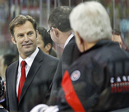 Kirk Muller has a bit of a smile early in the game, but that disappeared by the end of it. (US Presswire)