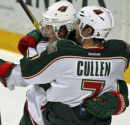 Minnesota's Matt Cullen bags three assists against his former team, the Anaheim Ducks. (Getty Images)