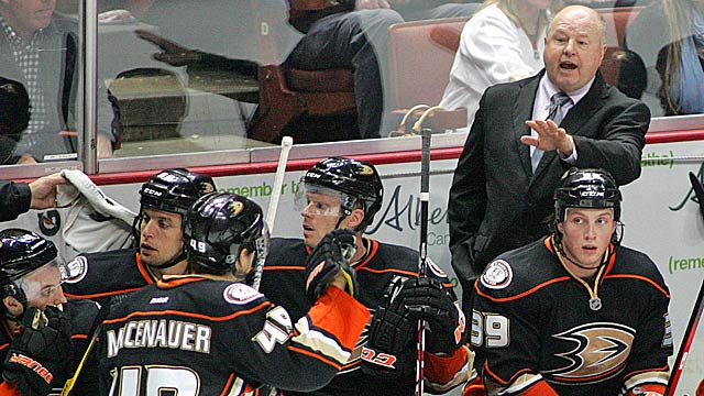 Bruce Boudreau's move behind the bench hasn't ignited the Ducks yet. (US Presswire)