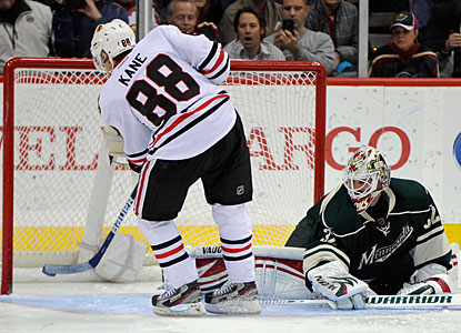 Patrick Kane secures the win for Chicago when he converts his shootout attempt. (Getty Images)