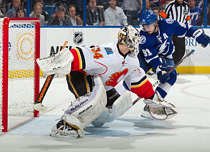 Steven Stamkos converts a fine pass from Eric Brewer for the winner just 30 seconds into overtime. (Getty Images)