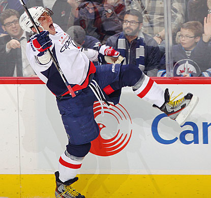 With just 74 seconds remaining in the game, Alex Ovechkin tallies the only goal for a Capitals shutout. (Getty Images)