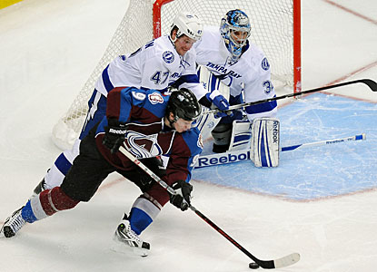 Matt Duchene's goal late in overtime is his team-leading 12th tally of the season. (AP)