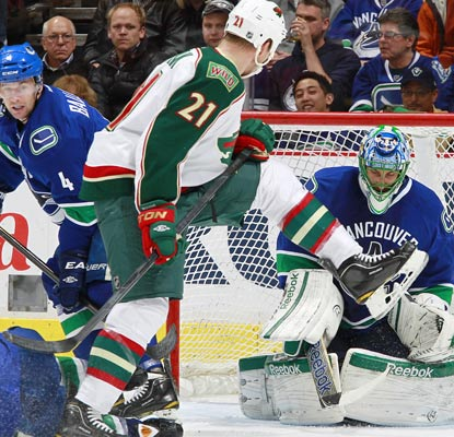 Roberto Luongo has two shutouts this season, both coming against the Wild. He now has 57 in his NHL career.  (Getty Images)