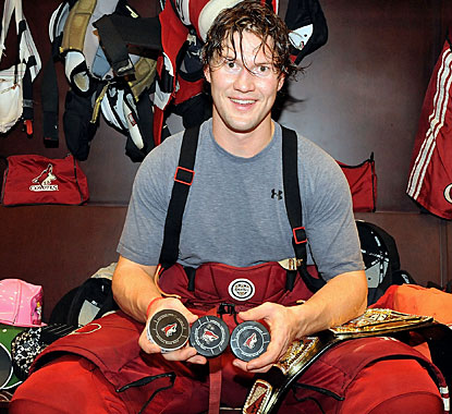 It takes Shane Doan 1,161 games in his fine career to score three goals in a game for the first time. (Getty Images)