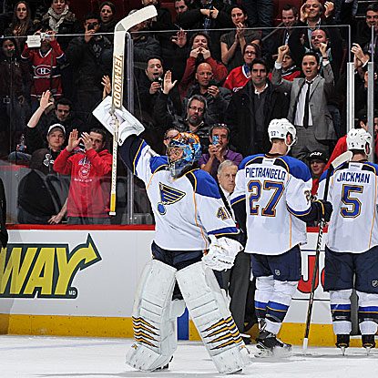 Traded by the Canadiens to the Blues in June 2010, Jaroslav Halak shut out his former team in his return to Montreal. (Getty Images)