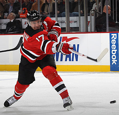 Ilya Kovalchuk scores twice in the Devils' win, giving him seven goals in his last six games. (Getty Images)