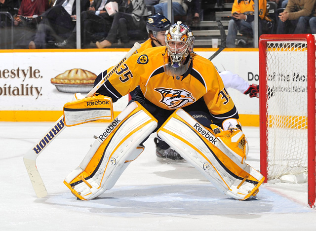 Pekka Rinne sports a record of 28-11-3 and a .925 save percentage. (Getty Images)