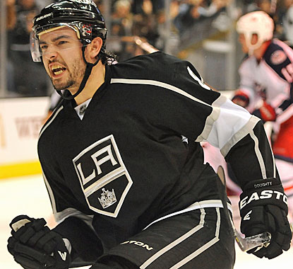 Drew Doughty is pumped up for good reason as he basically gives the Kings a win at the buzzer. (US Presswire)