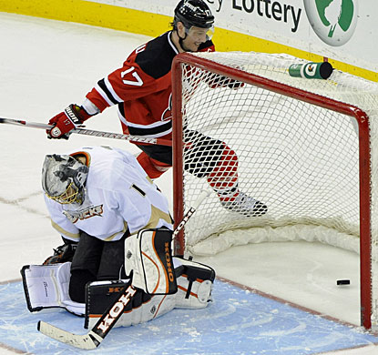 Ilya Kovalchuk converts his shootout attempt to help the Devils win for the seventh time in nine games. (AP)