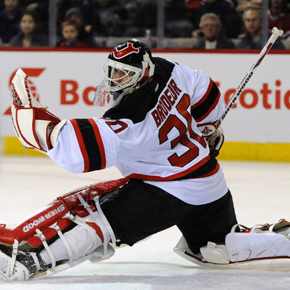 Martin Brodeur stops 21 shots as the Devils hold off the Canadiens and win their third consecutive game.  (US Presswire)