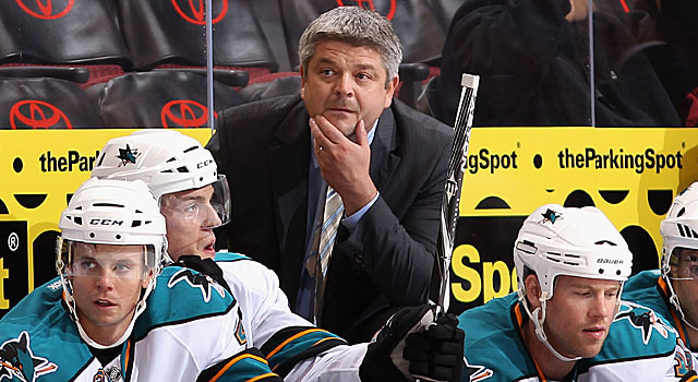 Head coach Todd McLellan and his Sharks have time to make a run towards the top of the West. (Getty Images)