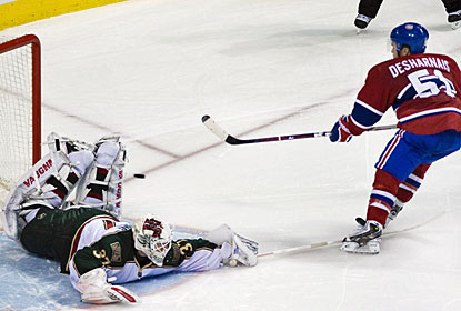 David Desharnais takes care of business in the shootout after also scoring in regulation time for Montreal. (AP)