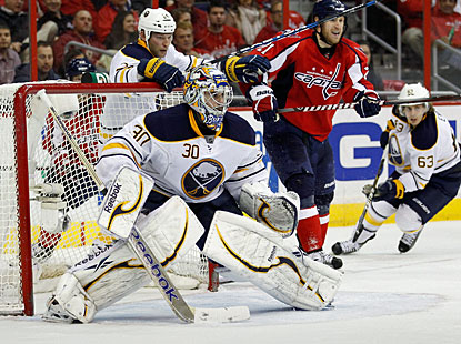 Ryan Miller stops 44 shots and improves to 8-0-2 in his last 10 games for Buffalo. (Getty Images)