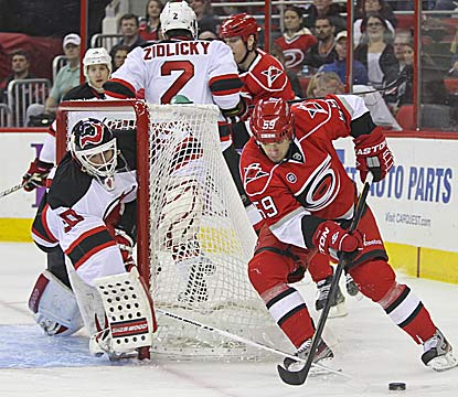 Martin Brodeur's 119th shutout lifts New Jersey into the playoffs and gets him closer to another NHL record. (US Presswire)