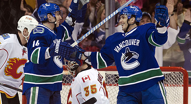The Canucks are battling the Blues for the top seed in the Western Conference. (Getty Images)