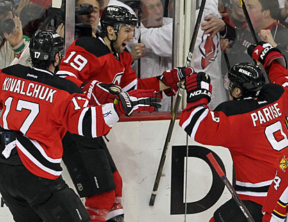 Travis Zajac (19) and the Devils get to play another game after outshooting the Panthers 42-16. (US Presswire)