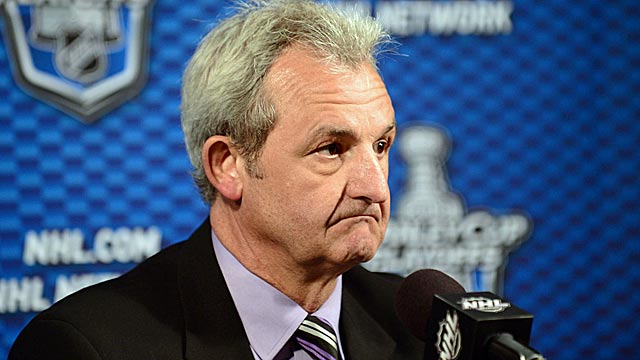 Darryl Sutter (above), John Tortorella and Peter DeBoer have become interview thrillers. (US Presswire)