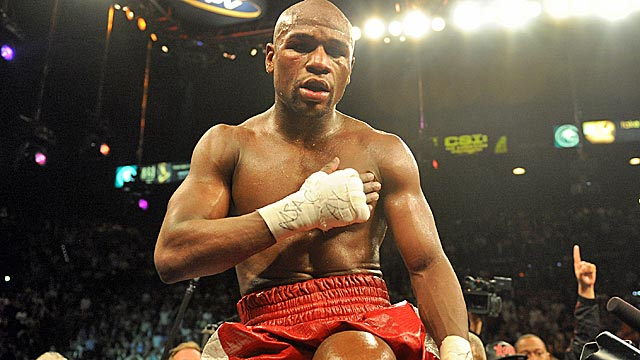 Floyd Mayweather was allowed to fight, and defeat, Miguel Cotto before beginning his sentence. (Getty Images)