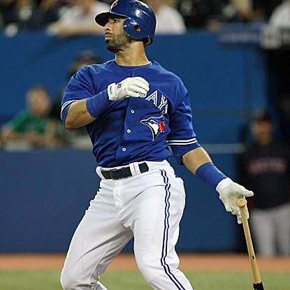 Jose Bautista connects for a three-run homer as the Blue Jays avoid being swept by the Red Sox.  (US Presswire)