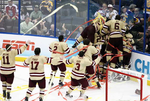 College hockey's national tournament kicks off Friday afternoon as 16 teams seek a trip to the 2013 Frozen Four. (USATSI)