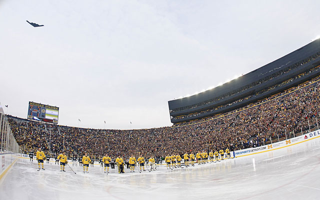 Michigan Stadium drew 104,173 when the Wolverines hosted Michigan State in December 2010. (Getty Images)