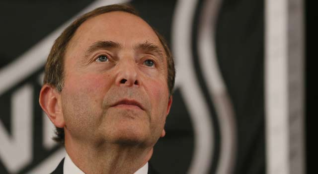 The union has yet to respond to Gary Bettman's idea of taking a two-week break. (Getty Images)