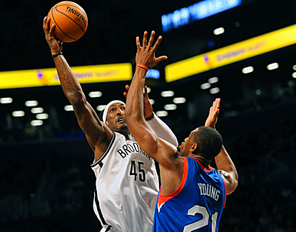 Gerald Wallace finishes with 14 points, nine rebounds and six assists in the Nets' victory over the Sixers. (US Presswire)