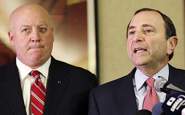 Gary Bettman (right) set a Jan. 11 deadline for a deal so the season can begin eight days later. (US Presswire)