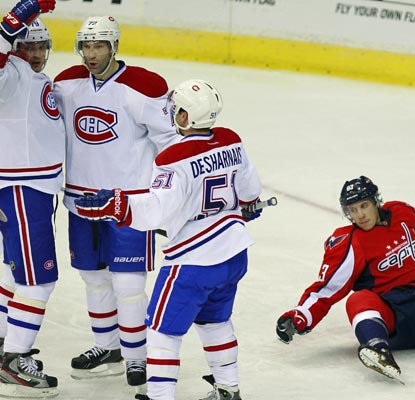 The Canadiens hand the Capitals their third straight loss to begin the Adam Oates era.  (US Presswire)