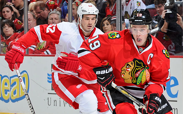 The Blackhawks are off to a blistering start, but don't rule out a run from the Red Wings. (Getty Images)