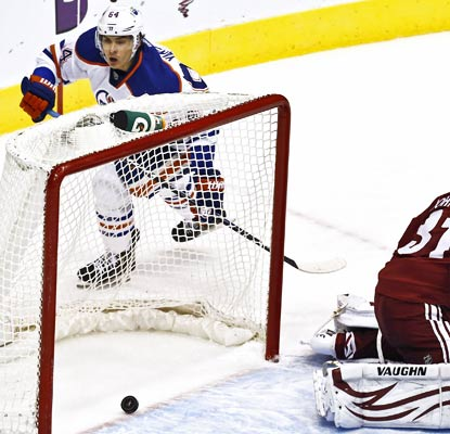 Only a rookie, Nail Yakupov is gaining a reputation as a clutch goal scorer for the Oilers.  (AP)