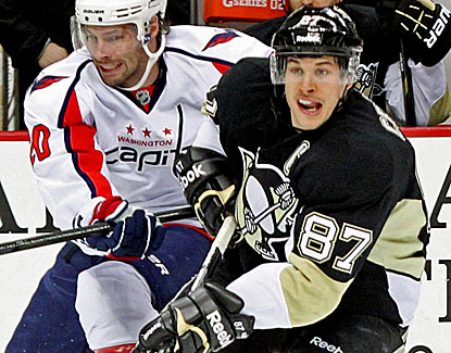 Pittsburgh's Sidney Crosby extends his points streak to six games with a goal and two assists against the Capitals. (US Presswire)