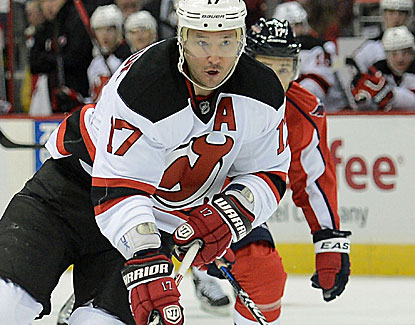Ilya Kovalchuk scores the tiebreaking goal on a 5-on-3 power play with about 8 1/2 minutes left. (Getty Images)