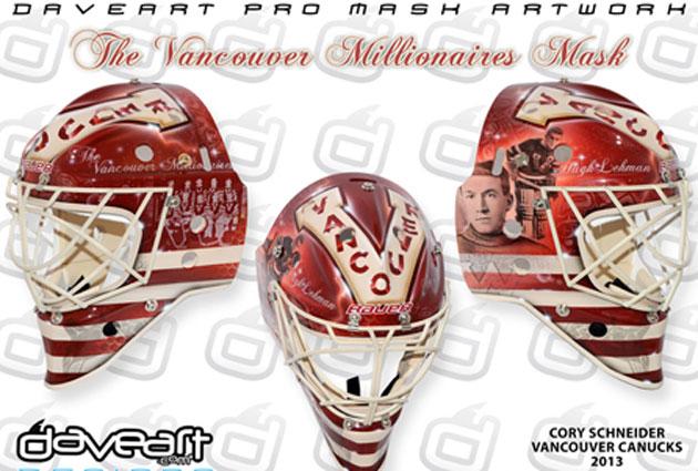 Schneider's Millionaire mask. (DaveArt.com)