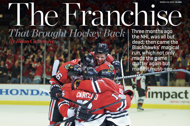Hockey fans are upset about the text on the Sports Illustrated cover. (SI.com)