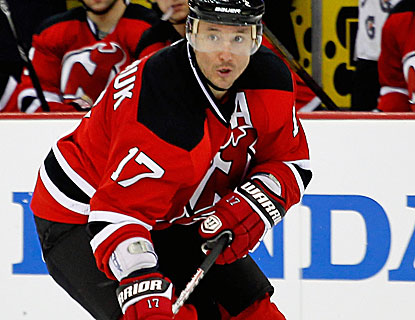 Ilya Kovalchuk caps New Jersey's three-goal first period with his NHL-leading fourth short-handed goal. (Getty Images)