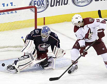 Columbus goalie Sergei Bobrovsky keeps Phoenix off the board through OT and a shootout to lead the Blue Jackets to a 1-0 win. (AP)